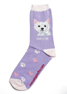 "Westie ""West Highlander Terrier"" Socks - samnoveltysocks.com"