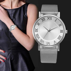 Hot Sale Women Watches Luxury Lady Watch Stainless Steel Wristwatches Fashion Women Watches Mesh Watch Women Relogios 2017 #816