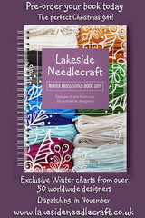 Lakeside Needlecraft Winter 2019 Cross stitch Book includes designs from over 50 worldwide designers. Pre-order now for delivery in November