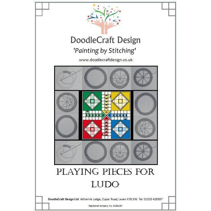 Playing pieces for DoodleCraft Design's stitched Games Boards