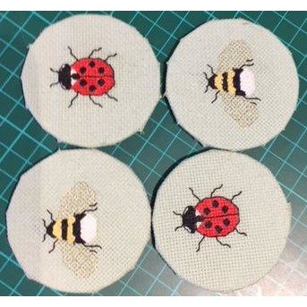 Three in a Row - Bees & Ladybirds