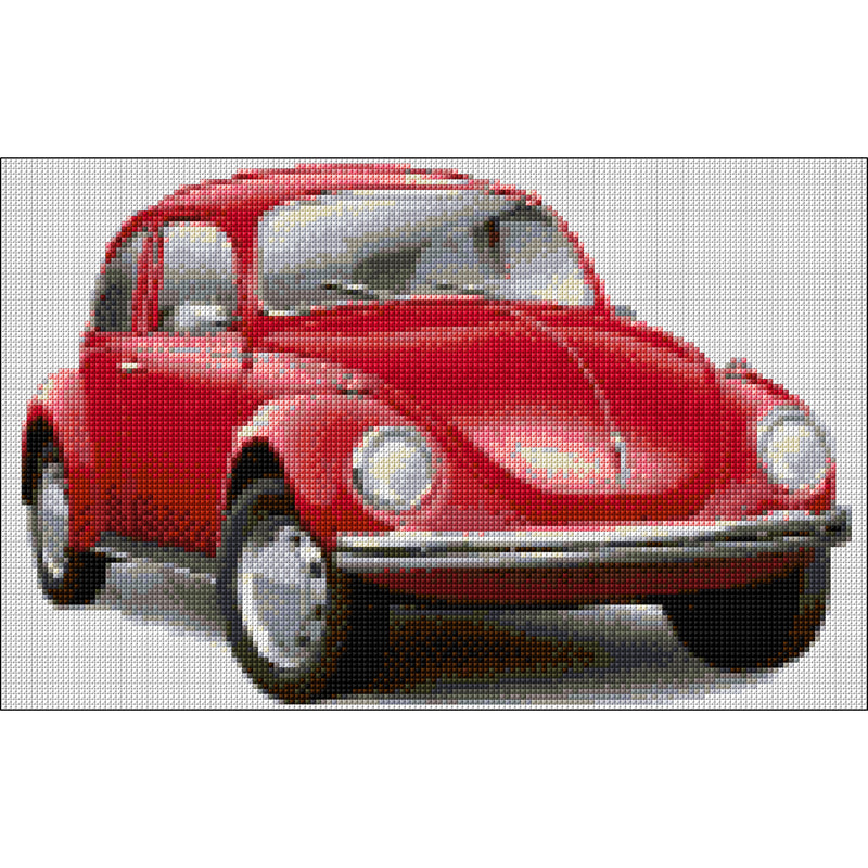 Counted Cross stitch kit of VW Beetle from DoodleCraft Design