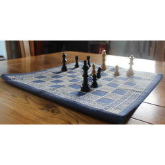 Stitch your own Chessboard - Light thread on dark fabric