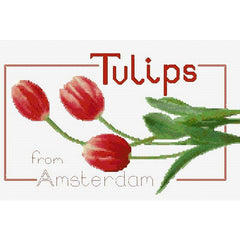 Counted Cross stitch Tulip Panel kit for Jute Bag