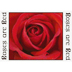 Counted Cross stitch Red Rose Panel kit for Jute Bag from DoodleCraft Design