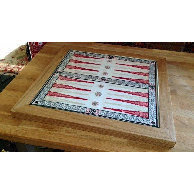 Backgammon Board - Dragon Design kit created in cross stitch and blackwork from DoodleCraft Design