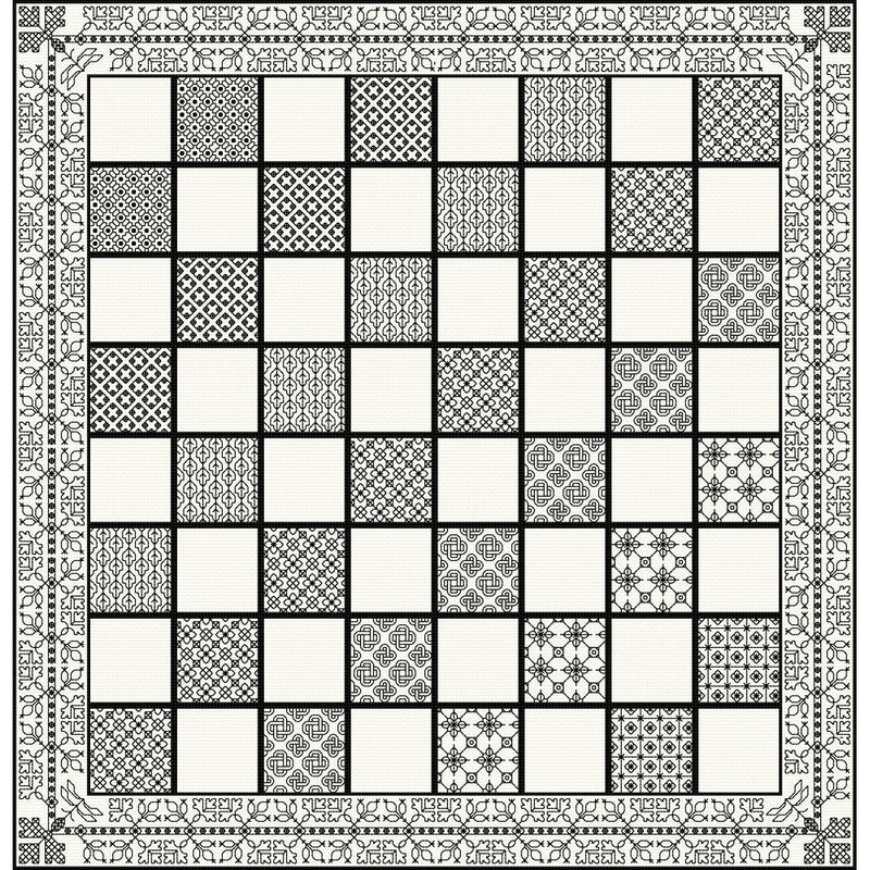 Stitch your own Chessboard in DMC Coloris threads from DoodleCraft Design