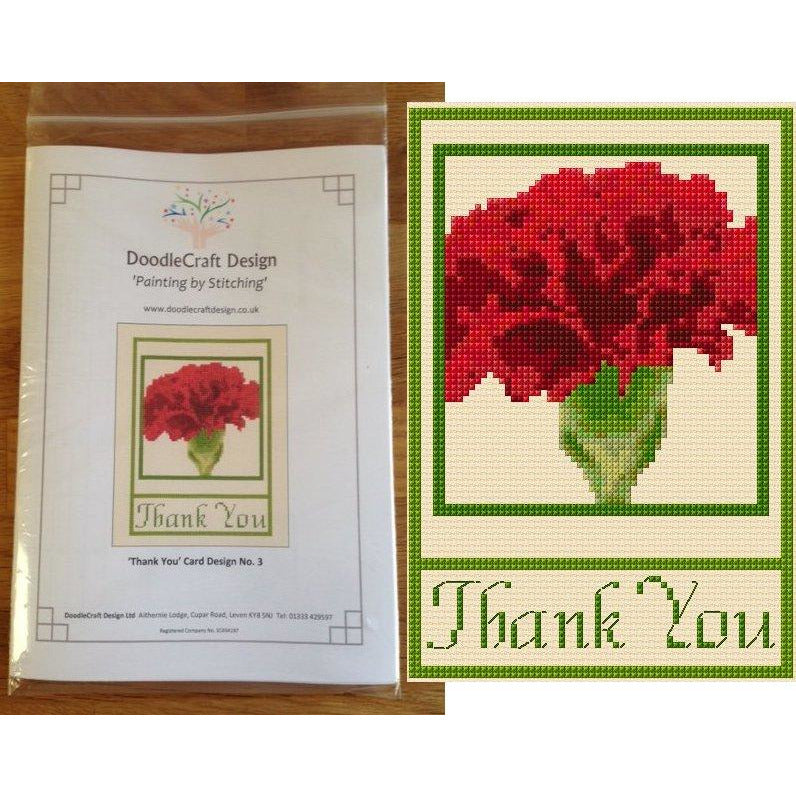 Cross stitch Thank You Cards