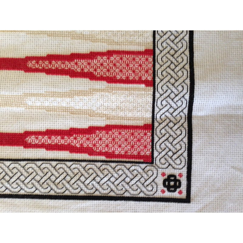 Backgammon Board - Celtic Design created in cross stitch and blackwork from DoodleCraft Design