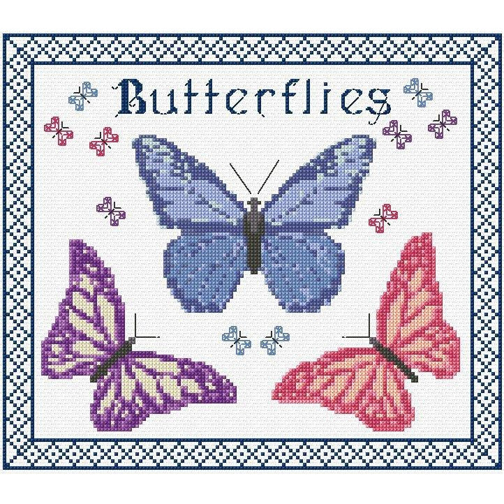 Cross stitch Butterflies kit from DoodleCraft Design