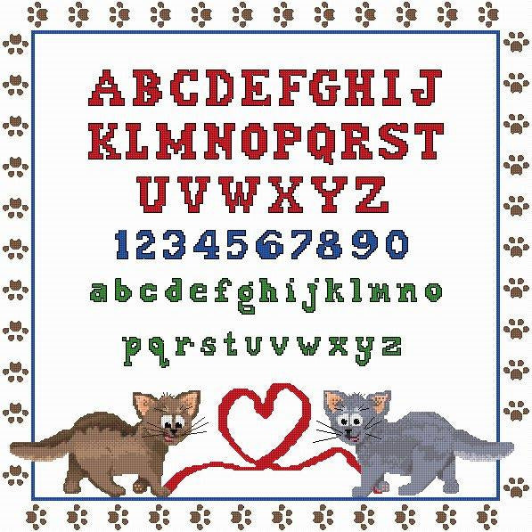 Cross stitch Cat Sampler