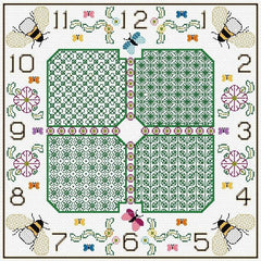 Stitch a Clock - Botanical Design