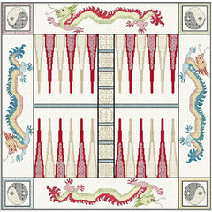 Oriental Themed Dragon Backgammon from DoodleCraft Design