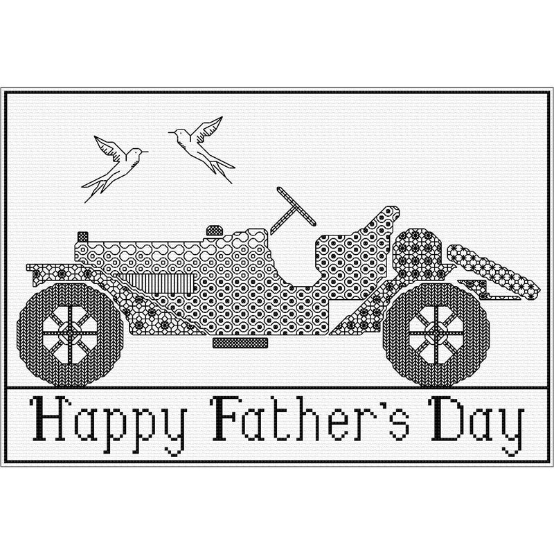 Blackwork Car for Father's Day