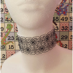 Blackwork Embroidery Jewellery - Choker