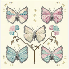Blackwork Butterflies designed using Paint-box threads from DoodleCraft Design