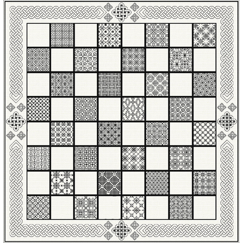 Stitch your own Celtic themed Chess Board from DoodleCraft Design