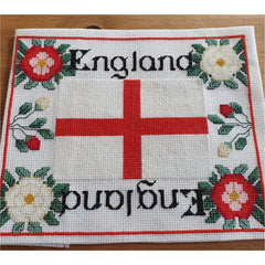 Cross stitch design using English Flag from DoodleCraft Design