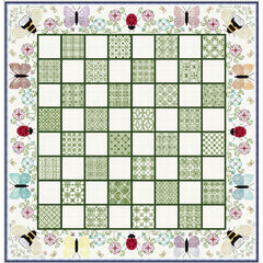 Quilt-your-own Botanic Chess games board from DoodleCraft Design