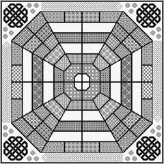 Quilt-your-Own Fidchell Board (Irish Chess)