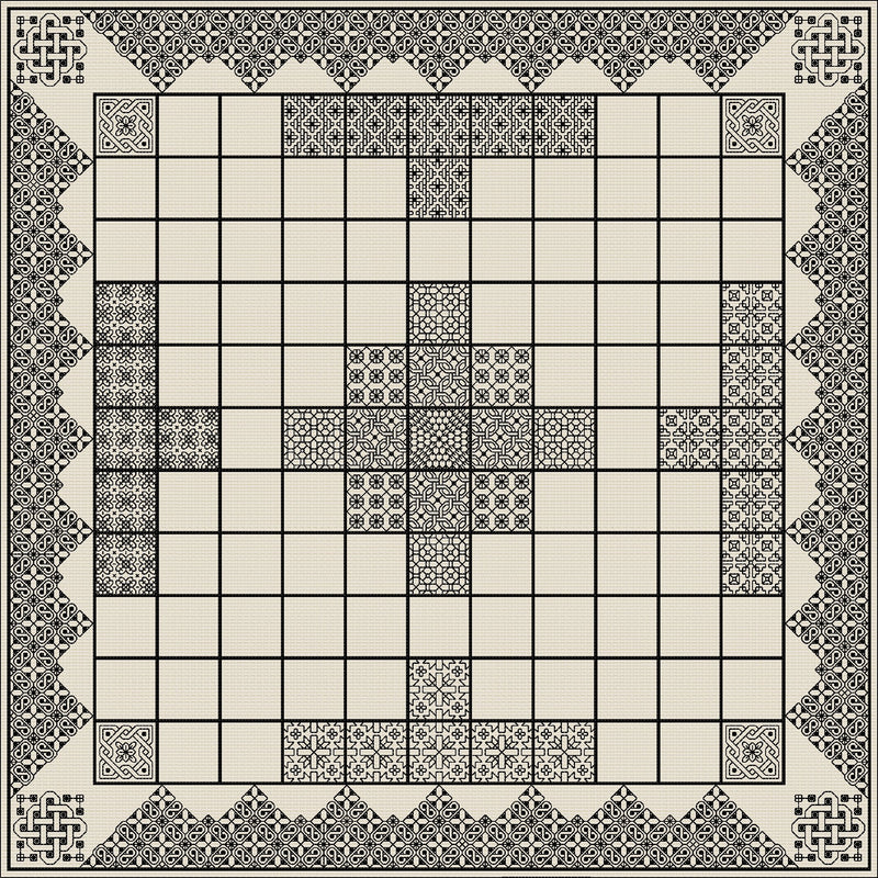 Quilt-your-own Hnefatafl games board from DoodleCraft Design