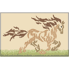 Blackwork embroidery horse from DoodleCraft Design