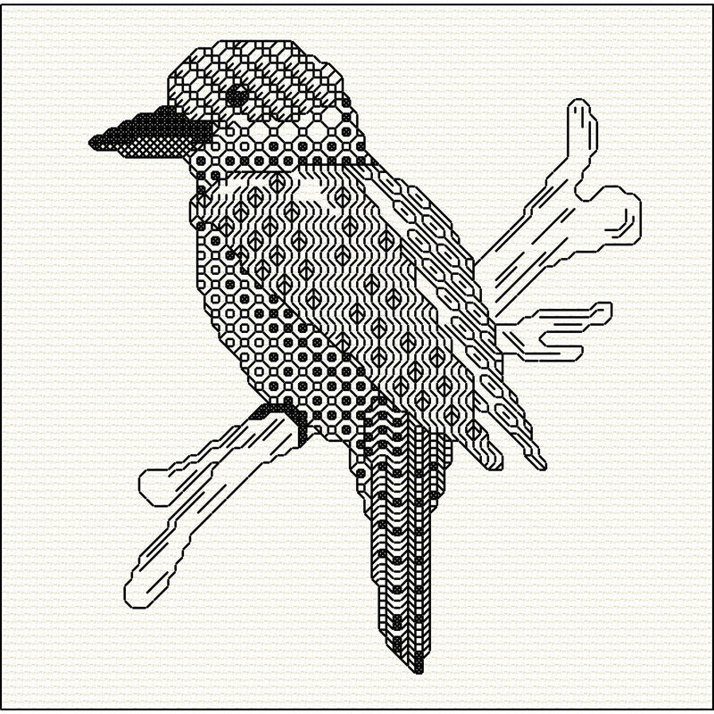 Stitched design of a Kookaburra from DoodleCraft Design