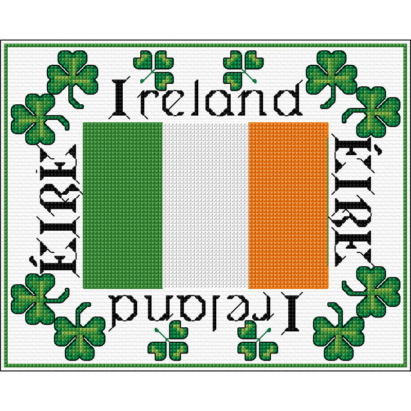 Cross stitch kit design with ROI flag from DoodleCraft Design