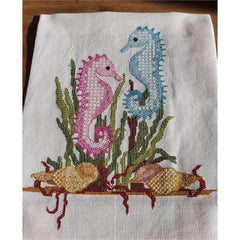 Blackwork embroidery Seahorses from DoodleCraft Design