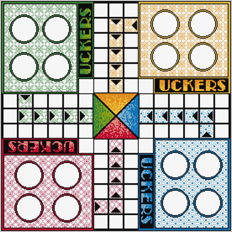 Quilt-your-Own Uckers Board