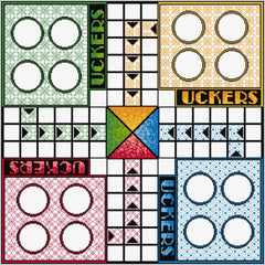 Quilt panel for Uckers game board from DoodleCraft Design