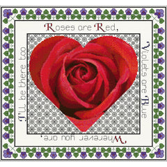 Red rose and violet valentine design from DoodleCraft Design