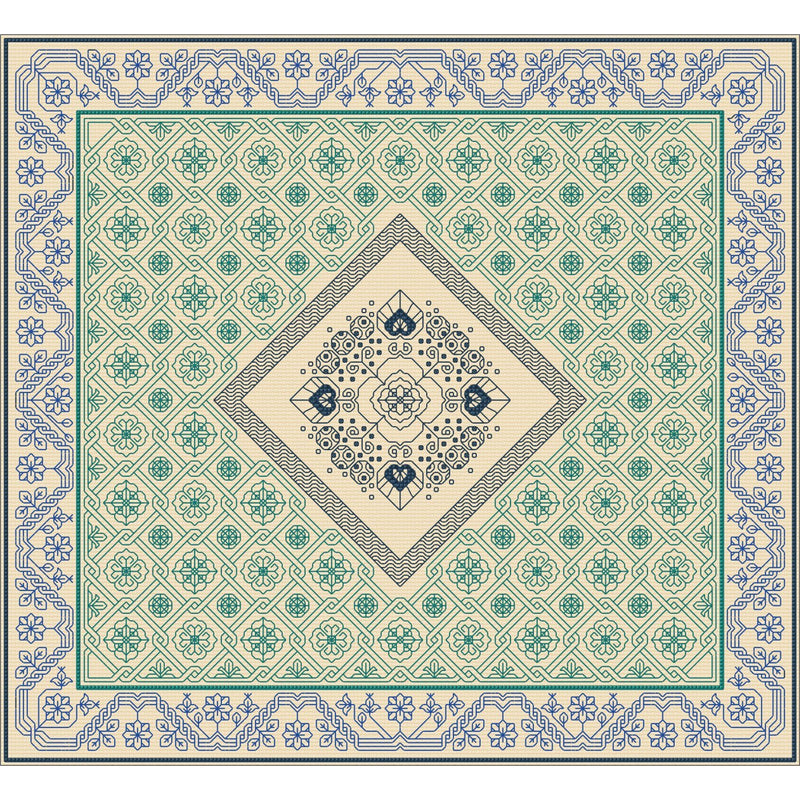 Beautiful Blackwork design in variegated silks from DoodleCraft Design This design is called Elements in Blackwork - Water