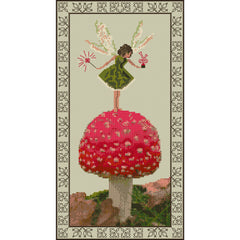 Counted Cross stitch Toadstool Fairy kit from DoodleCraft Design