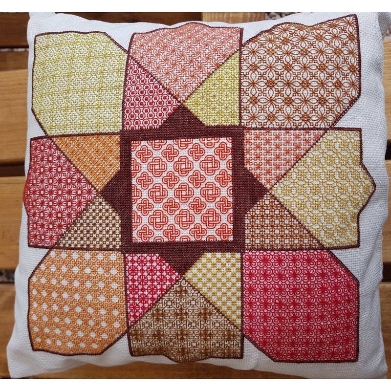 Blackwork Cushion cover kit using Paint-box threads from DoodleCraft Design