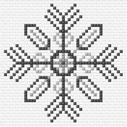 Counted Cross stitch kit of Snowflakes for beginners from DoodleCraft Design