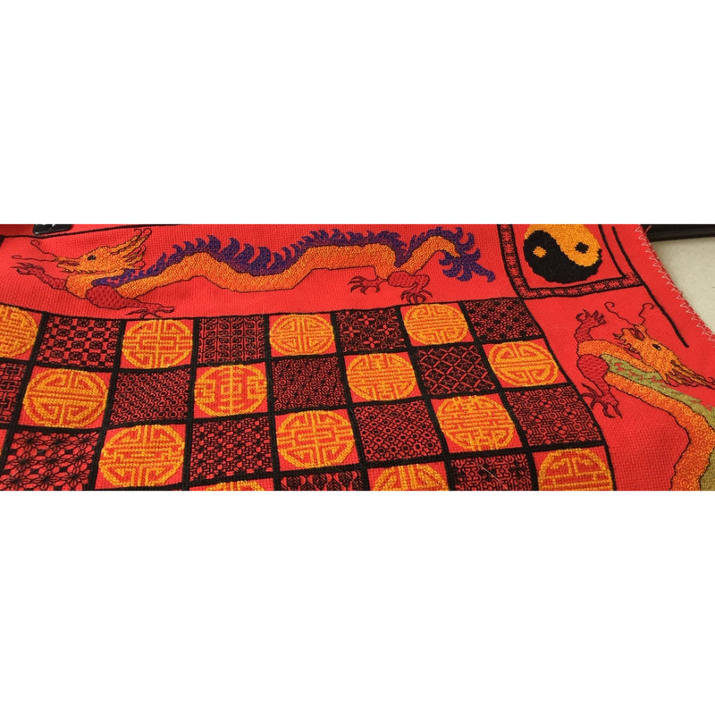 Stitch your own Chess Board with Oriental Dragons from DoodleCraft Design