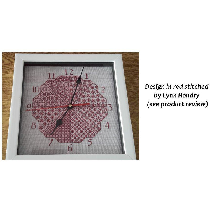 Stitch a Clock - a design using DMC Coloris threads