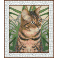 Example of Bespoke Design - Vala the Bengal cat (Cross stitch)