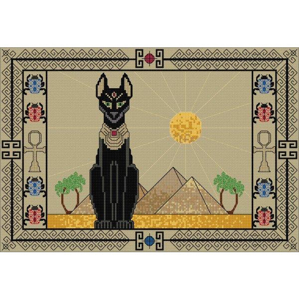 Counted cross stitch Egyptian Cat from DoodleCraft Design
