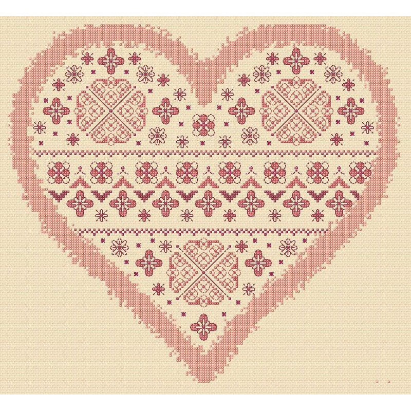 Heart Cushion Cover in Cross stitch