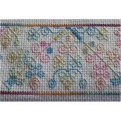 Sampler stitched in Variegated Threads