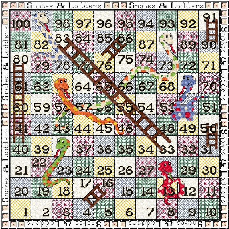 Quilt-your-Own Snakes & Ladders
