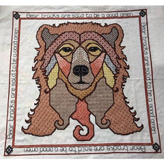 Cross stitch and blackwork embroidery bear from DoodleCraft Design