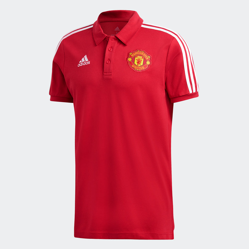 adidas Manchester United 3-Stripes Polo Shirt