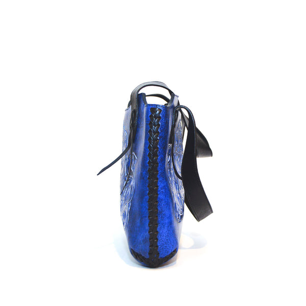 Beatifull Deep Blue color Genuein Leather Handbag