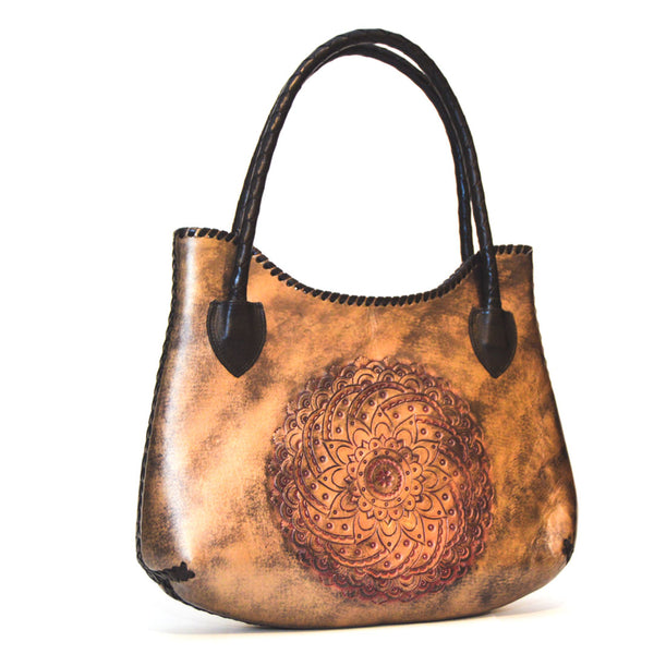 Beautiful Metalic Leather handbag