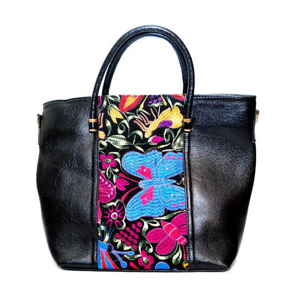 Floral Embroidered 100% Genuine Leather