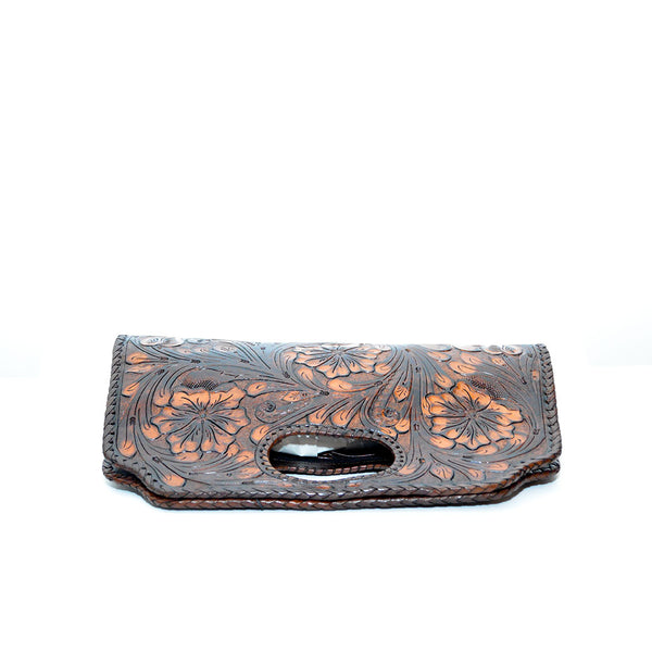 Dark Brown color, Handcrafted Bold floral pattern