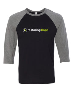 3200 Baseball 3/4 Sleeve Tee - Restoring Hope
